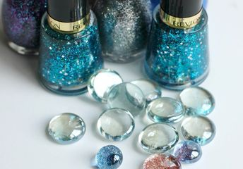 how to make glass glitter magnets