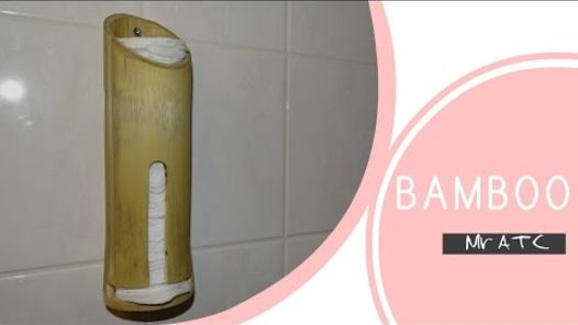 bamboo cotton pads holder