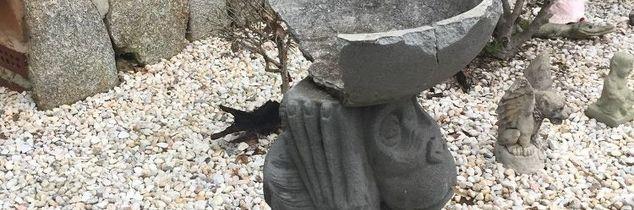 q does anyone know how i can fix a cement birdbath