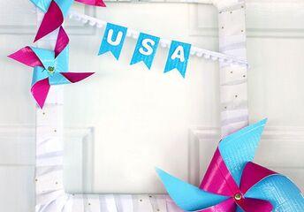 patriotic pinwheel wreath
