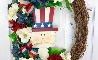 diy patriotic 4th of july memorial day wreath