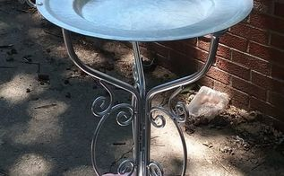 tray plus stand equals birdfeeder, Painted stand