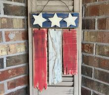 rustic pallet wood flag