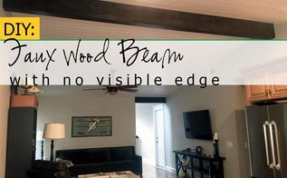diy faux wood beam without a visible edge