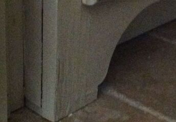 q how can we repair our kitchen sink base cabinet damaged by water