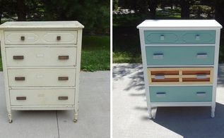 surf woodie inspired dresser makeover