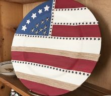 stars stripes chalk painted charger