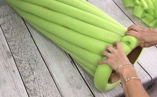 get amazingly elegant decor using 9 bright green pool noodles