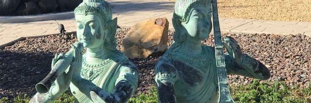 q how can i refinish my bronze thai statues