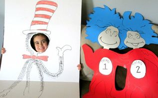 dr seuss thing one thing two birthday party theme tutorial, Thing One and Thing Two Completed