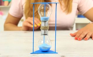 diy bulb sandglass