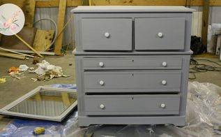 easy chalk paint dresser makeover from gross to gorgeous