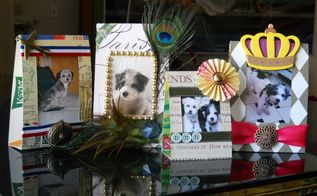 upcycled cereal box picture frames