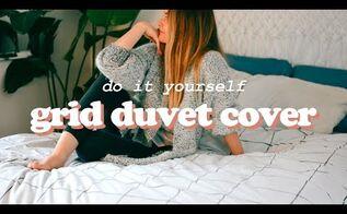 diy grid duvet cover