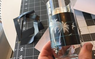 diy glass with the silhouette cameo vinyl cutting machine