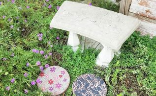painted pavestone for garden decor