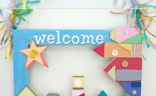 create a beach themed welcome sign for summer