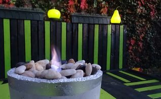 a bit chilly outside this homemade fire bowl could help