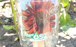 mason jar garden markers
