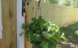 fence post plant hanger