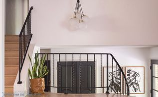 how to modernize stair railing