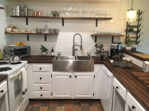butcher block countertop diy cost new walnut large subway tile walls shelving painted lowers for sale toronto sealer