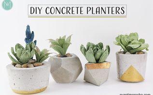 diy concrete planters maceteros de concreto