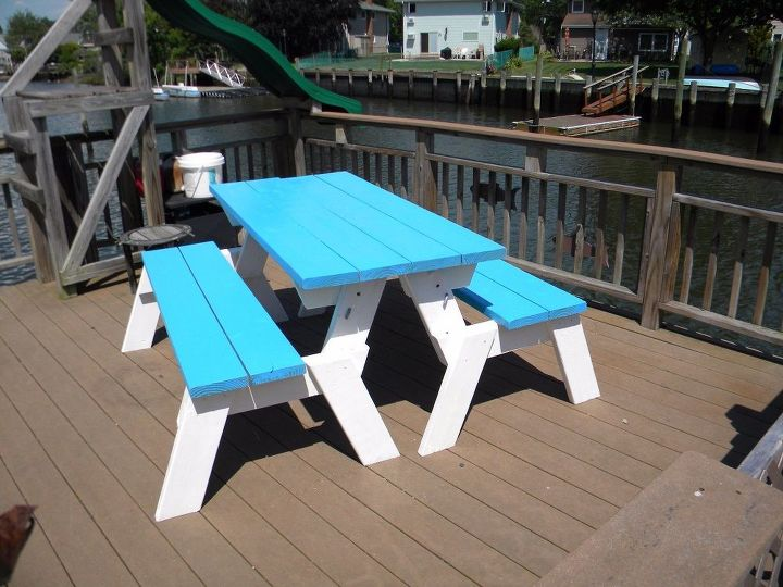 How To Make A Diy Convertible Picnic Table That Folds Into A Bench Sea Hometalk