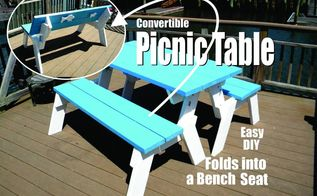 how to make a diy convertible picnic table that folds into a bench sea