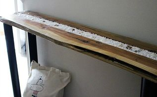 make a shadow box console table from an old piece of wood