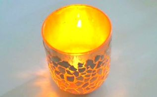 diy eggshell candle holder