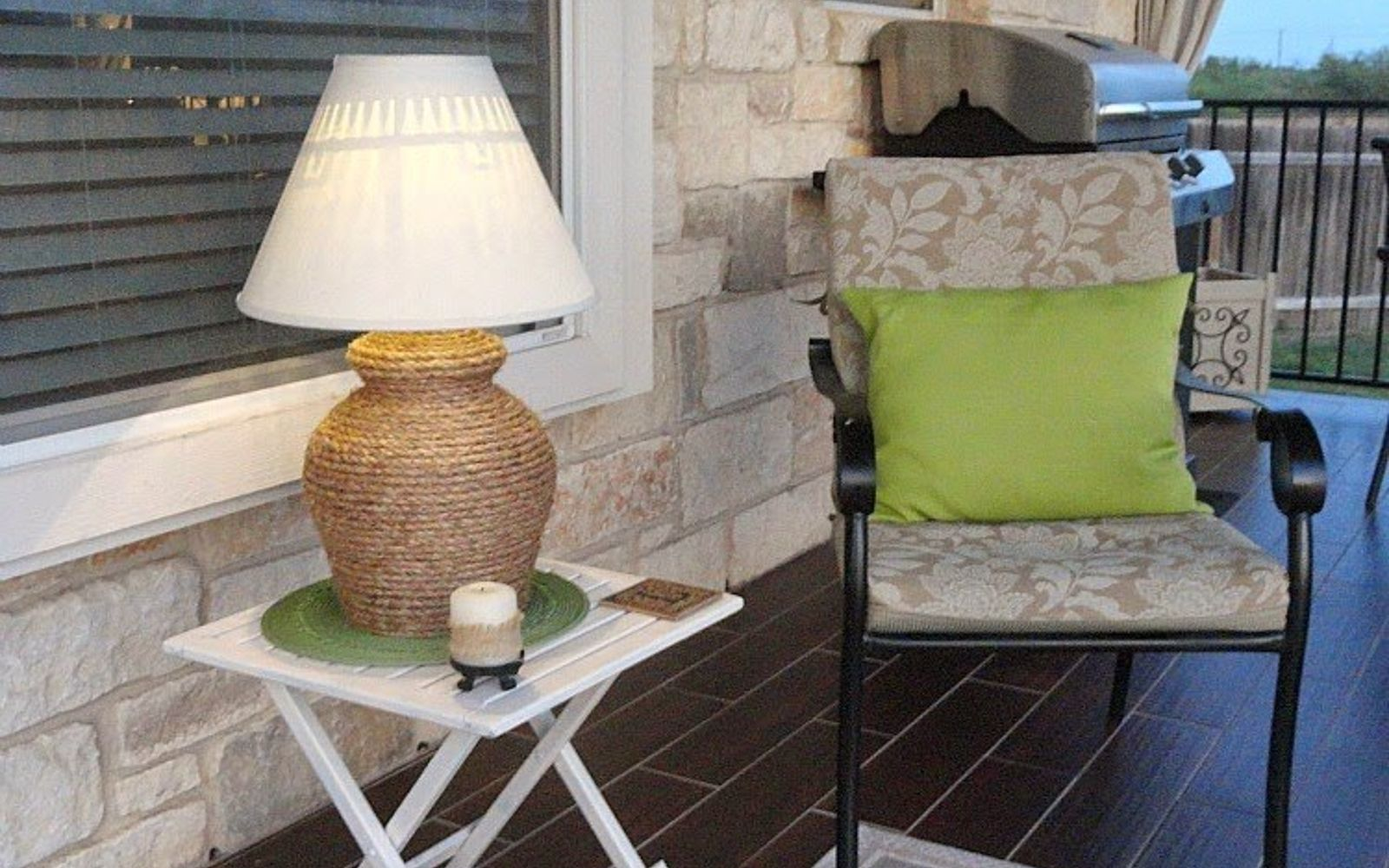 s 16 stunning ways for you to add solar lighting, Wrap Rope Around A Lamp