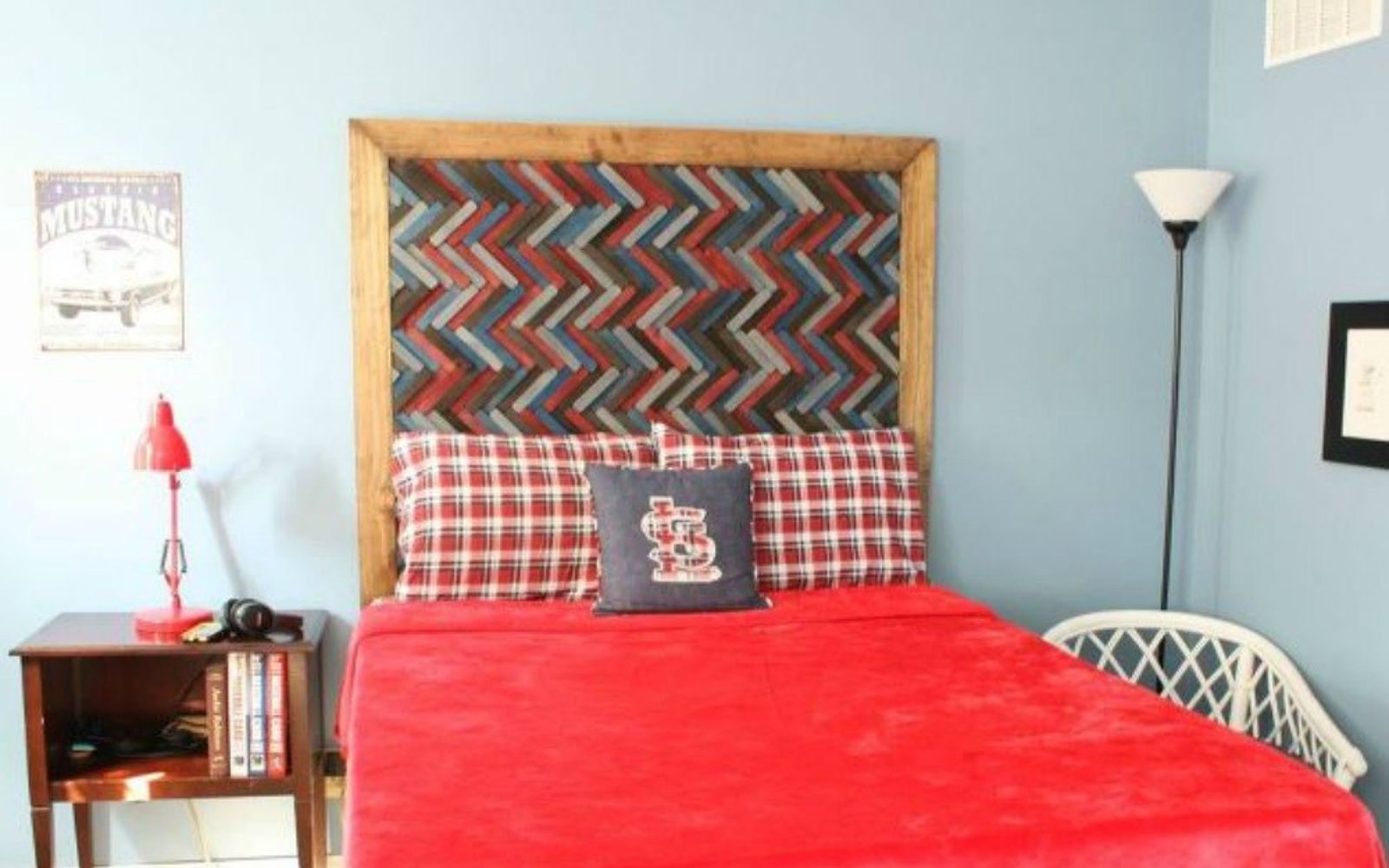 s these are the diy headboard ideas you ve been dreaming of, This herringbone hottie