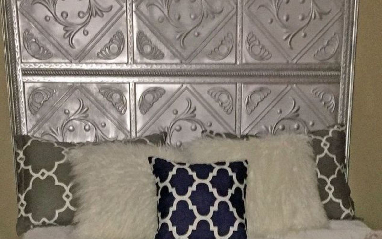 s these are the diy headboard ideas you ve been dreaming of, This tin inspired crown for your bed