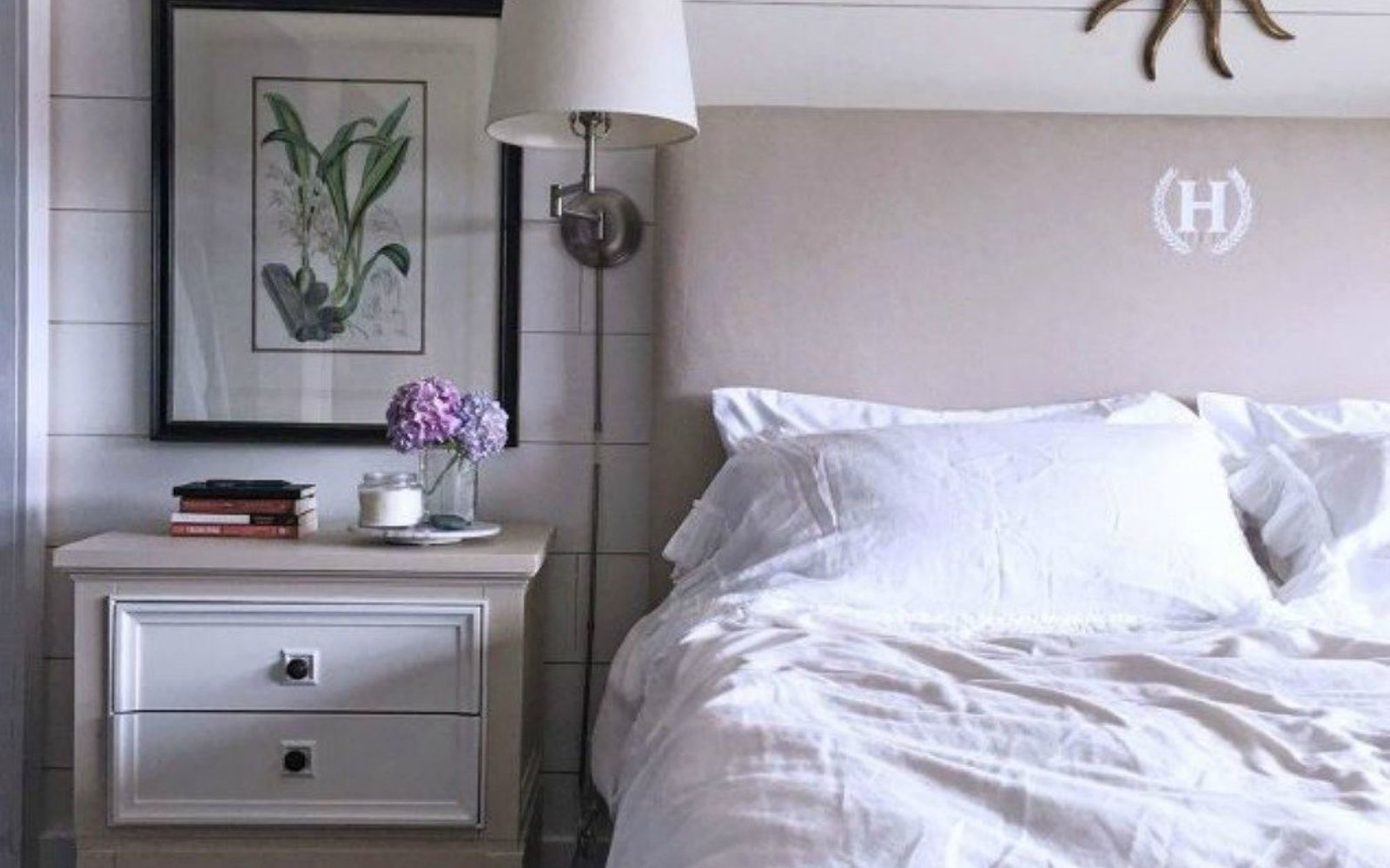 s these are the diy headboard ideas you ve been dreaming of, This monogramed dazzler