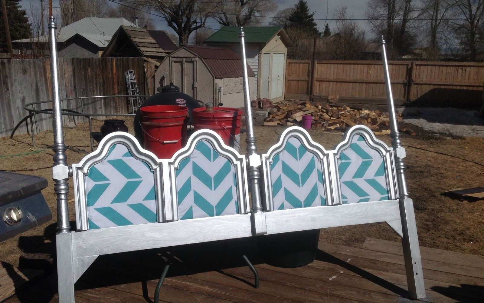 s these are the diy headboard ideas you ve been dreaming of, Upgrade A Thrift Store Piece