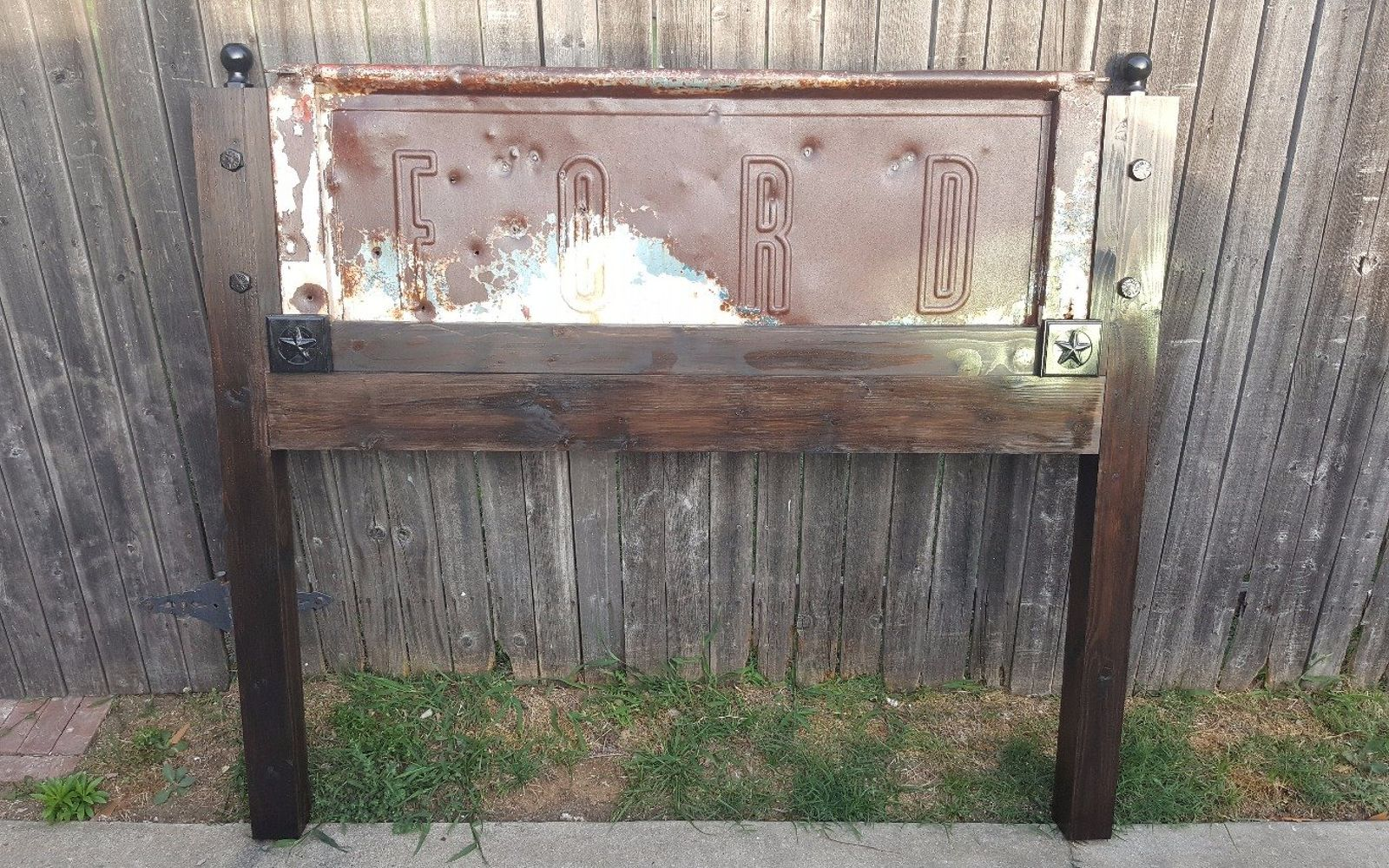 s these are the diy headboard ideas you ve been dreaming of, Repurpose An Old Truck Tailgate