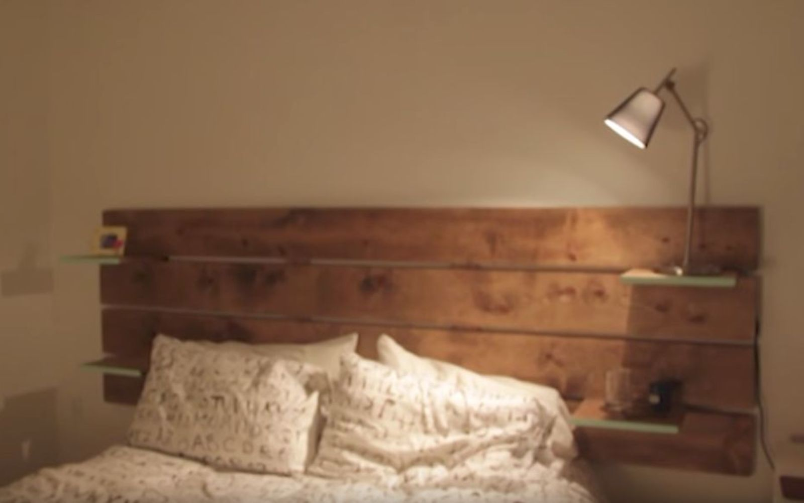 s these are the diy headboard ideas you ve been dreaming of, Illuminate The Board With Embedded Lights