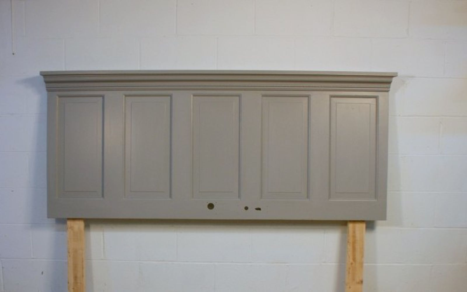 s these are the diy headboard ideas you ve been dreaming of, Convert An Old Door To This Matte Beauty