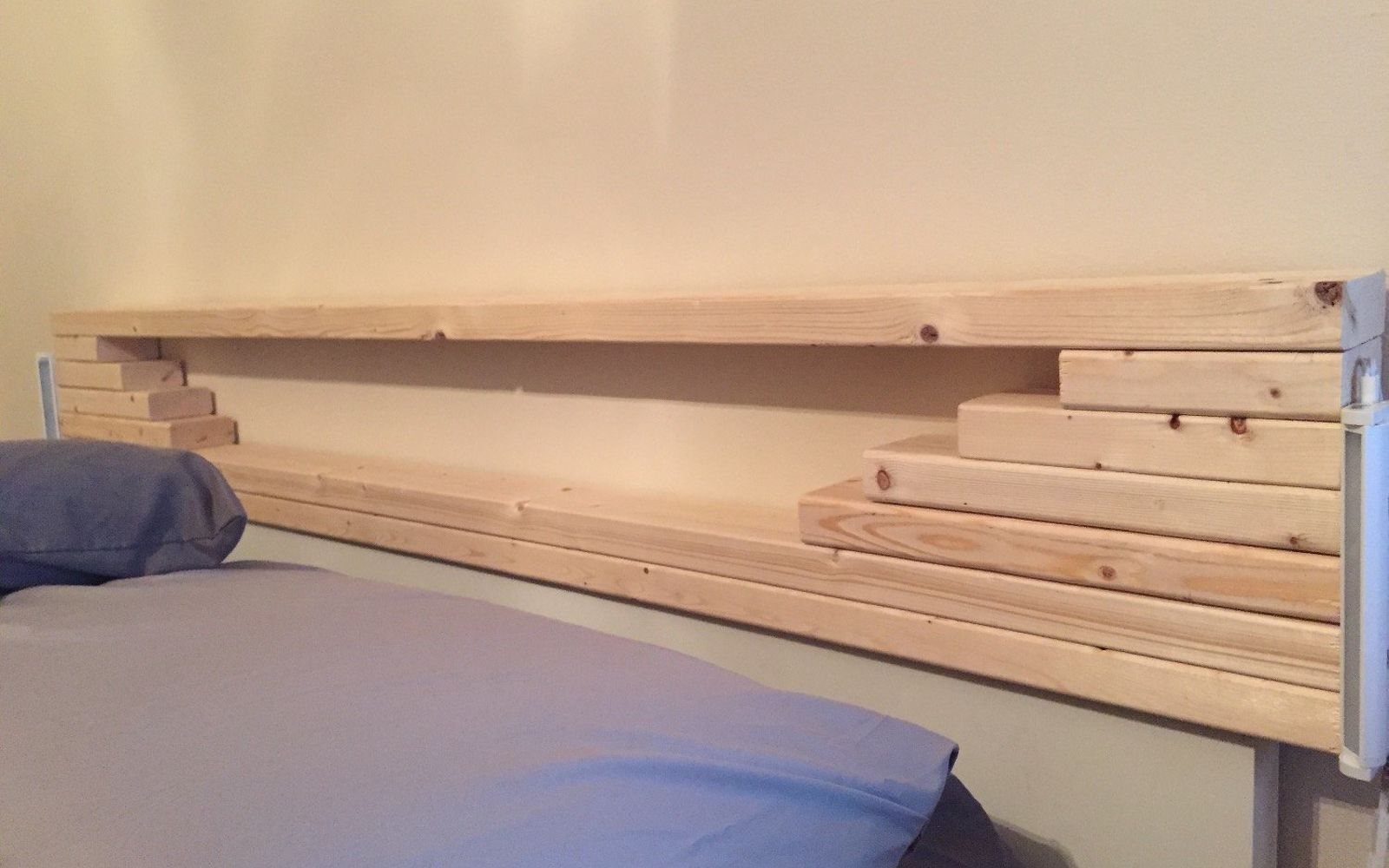 s these are the diy headboard ideas you ve been dreaming of, Make This Simple Mini Shelf Board