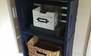 my navy blue crate nightstand
