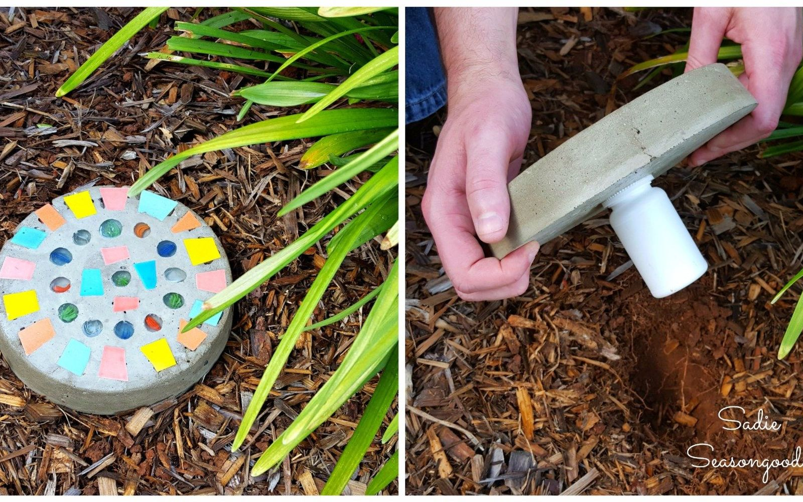 s 10 clever ways to use concrete for anything, Create A Discreet Key Holding Stepping Stone
