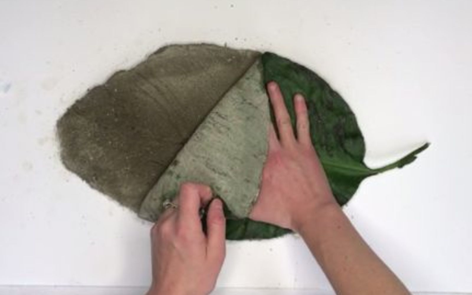 s 10 clever ways to use concrete for anything, Coat A Leaf For A Stepping Stone