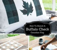 how to make a boring pillow cozy with layered stencils