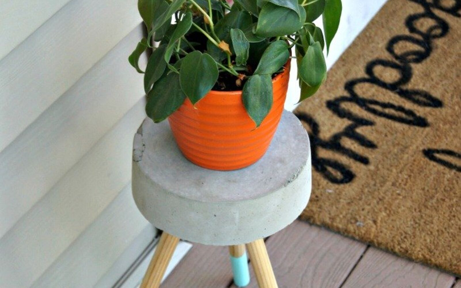 s 10 clever ways to use concrete for anything, Make A 5 Plant Stand
