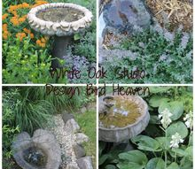 birdbaths decorate my garden and provide water for critters