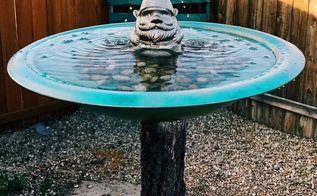 diy water fountain bird bath