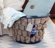 laundry basket upcycle