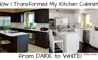 how to paint your kitchen cabinets from dark to white