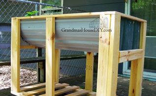 tall garden planter on wheels how to build